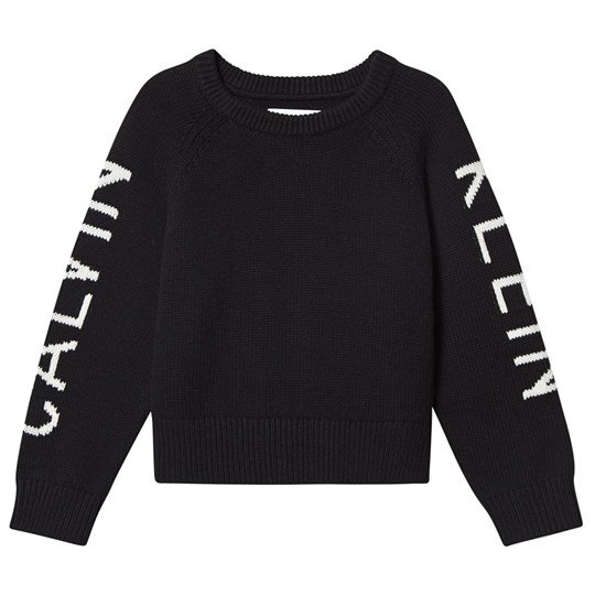 Calvin Klein Jeans Logo Knit Sweater Black 005