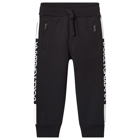 Dolce & Gabbana Branded Trim Sweatpants Black N0000