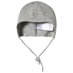 Wheat Knitted Baby Hat Grey Melange