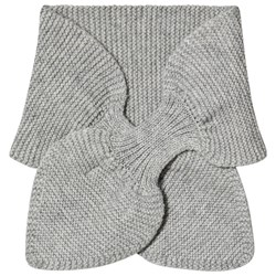 Wheat Knitted Baby Scarf Grey Melange