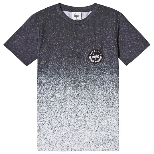 Hype Speckle Fade T-shirt Svart och Vit Black/White
