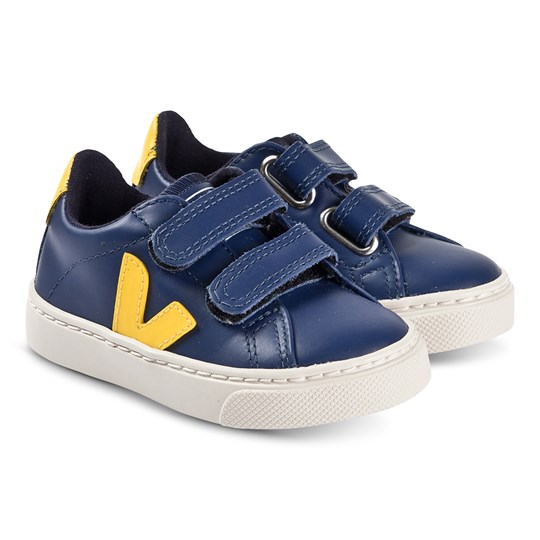 Veja Esplar Leather Sneakers Cobalt/Yellow Colbalt Gold-Yellow