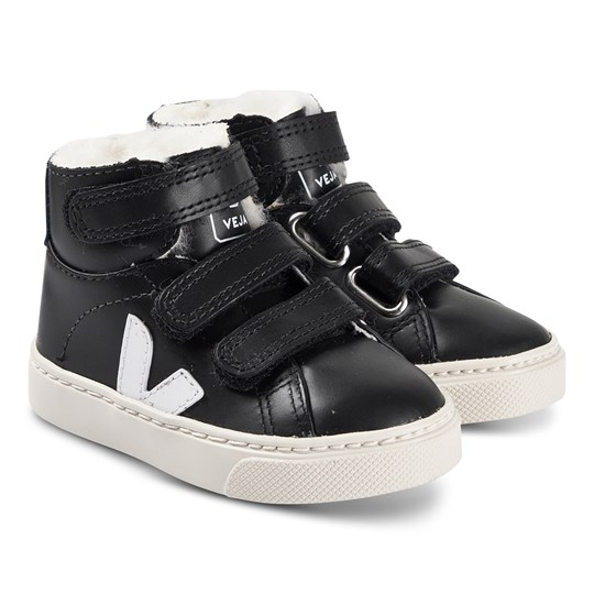 Veja Leather Sneakers Svart/Vit Black White Colbalt