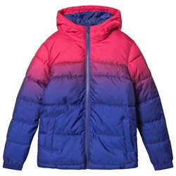 Hype Fade Puffer Jacket Pink and Purple