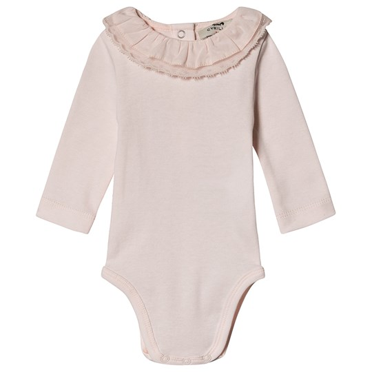 Cyrillus Frill Collar Baby Body Pink Rose Pâle