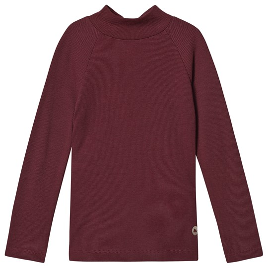 Mayoral Mock Neck Top Burgundy 45