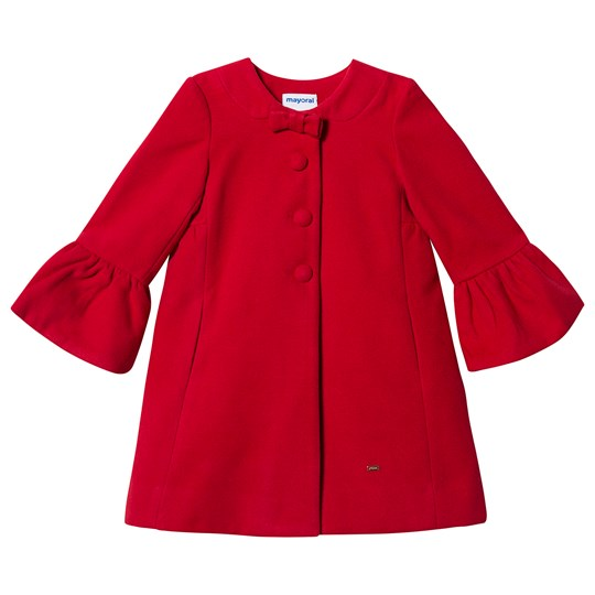 Mayoral Bow Detail Formal Coat Red 27
