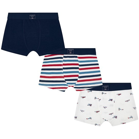 Mayoral Aeroplane and Stripe 3-Pack Boxers Navy 13