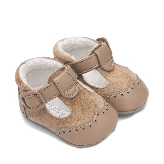 Mayoral Velcro Buckle Crib Shoes Beige 67