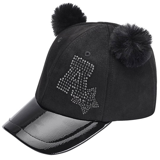 Mayoral Diamante Pom Pom Cap Black 63