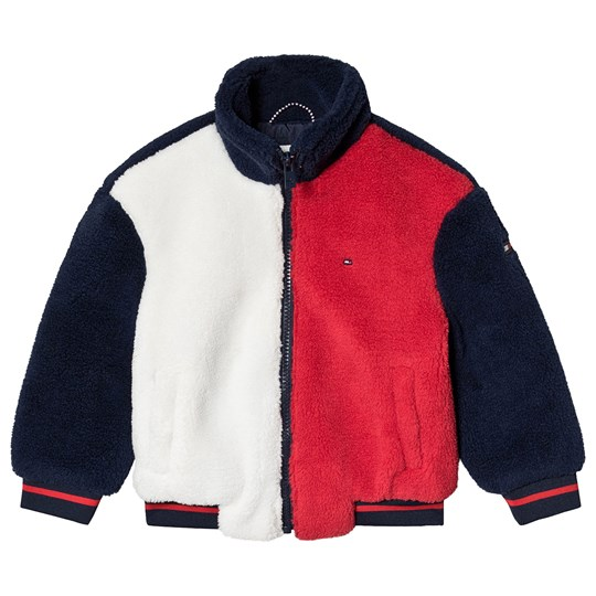 Tommy Hilfiger Color Block Teddy Bomber Navy/Red/White CBK