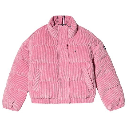 Tommy Hilfiger Corduroy Puffer Jacket Pink VBB