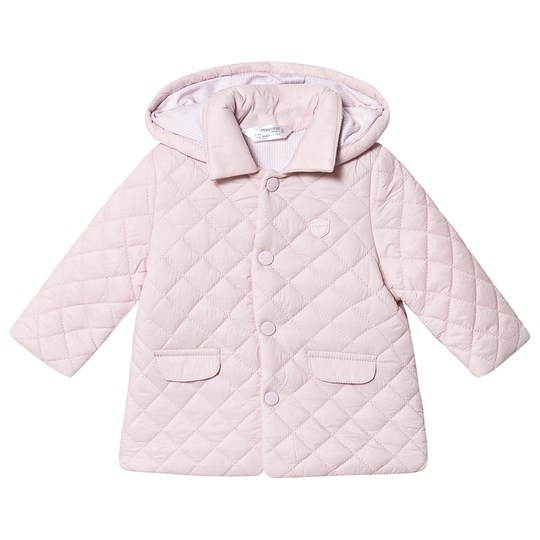 Mayoral Quilted Jacket Pale Pink 22