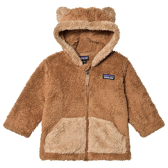 Patagonia Furry Friends Zip Fleece Hoodie Beech Brown BEBR