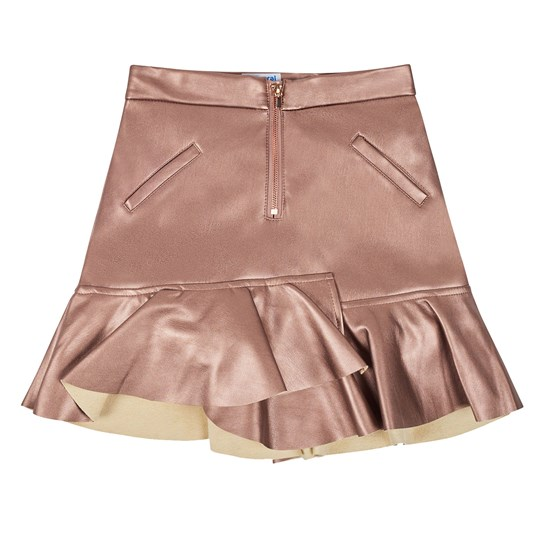 Mayoral Faux Leather Skirt Rose Gold 10