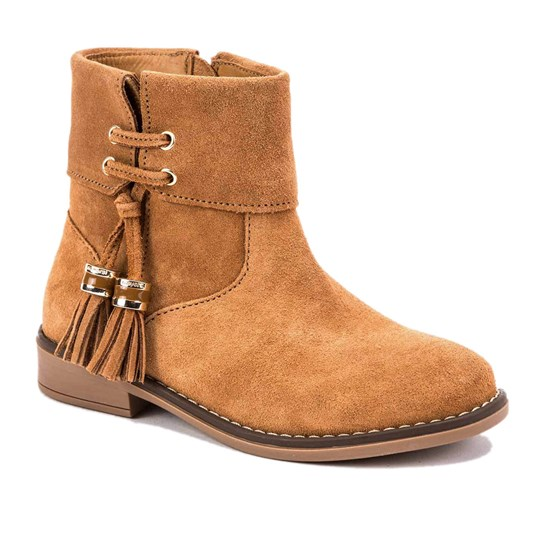 Mayoral Suede Zip Up Ankle Boots Chesnut 56