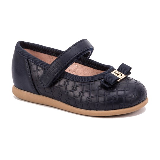 Mayoral Velcro Strap Mary Jane Shoes with Bow Navy 14
