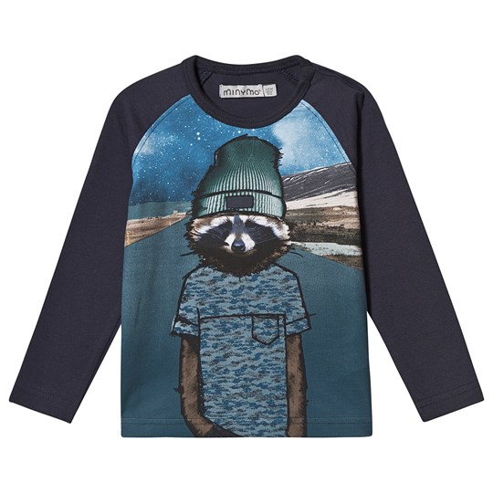 Minymo Space Animal T-shirt Marinblå Outer Space