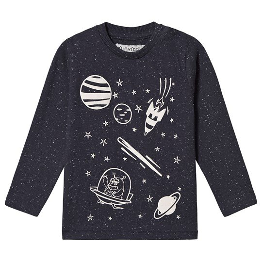 Minymo Space T-shirt Blå Outer Space