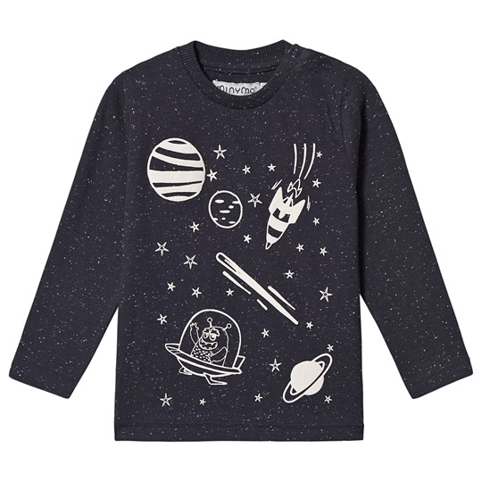 Minymo Space T-Shirt Blue Outer Space