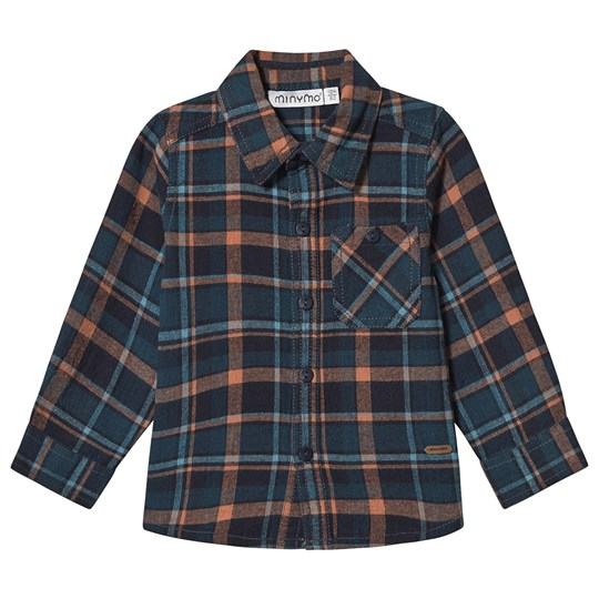 Minymo Check Shirt Blue/Navy Outer Space