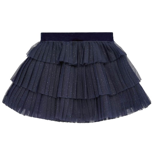 Mayoral Pleated Tulle Skirt Navy 14