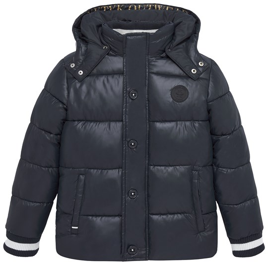 Mayoral Navy Hooded Padded Coat with Ribbed Cuffs 20