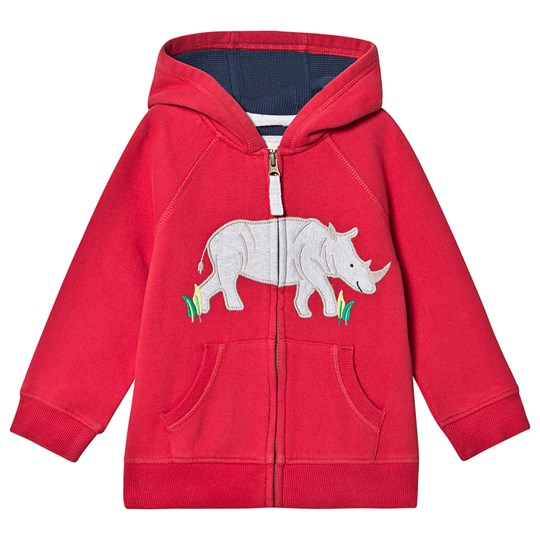 Frugi Lucas Zip Up Huvtröja Tango Tango Red/Rhino