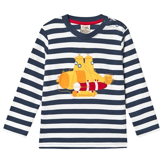 Frugi Discovery Applique Top Space Blue Stripe/Sub Space Blue Stripe/Sub