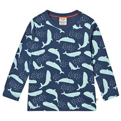 Frugi Radley Rib Top A Whale Of A Time
