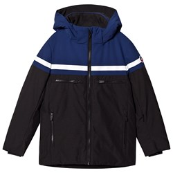 Fusalp Colour Block Hooded Alfonse Ski Jacket Blue/Black