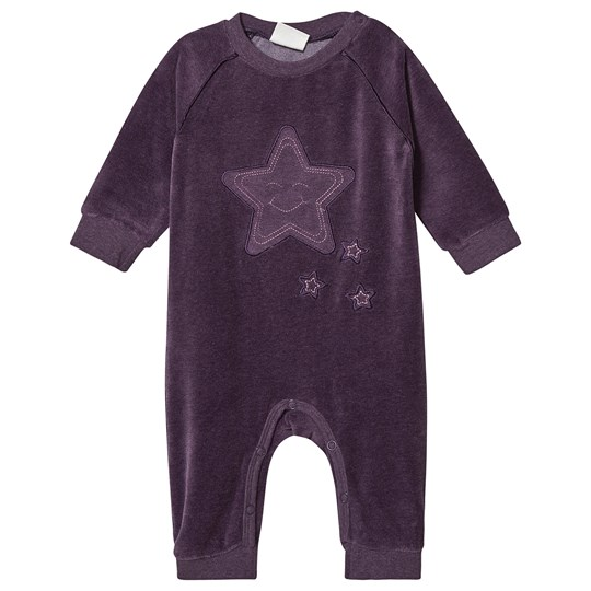 Minymo Velour One-Piece Gothic Grape Gothic Grape