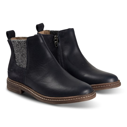 Pom Dapi Brother Boots Navy MARINE/ARGENT