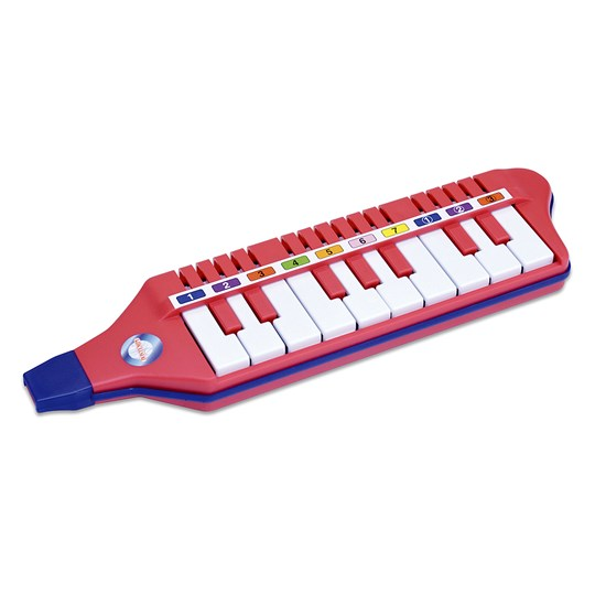 Bontempi Mouth Piano with 10 Keys Red
