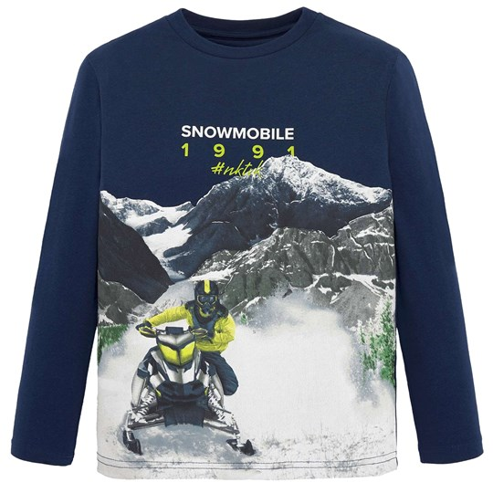 Mayoral Moutain Snowmobile Graphic Tee Navy 76