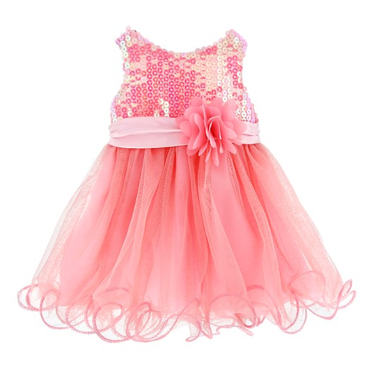 MissMiniMe Doll Dress Pretty Pink Pink