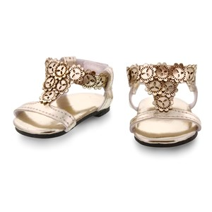 Image of MissMiniMe Dukke Sandaler Gold 4 - 12 years (1480872)