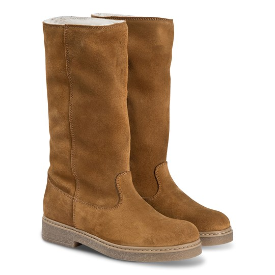 Bonpoint Suede Boots Chestnut 068A