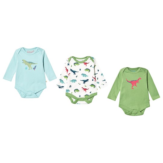 Frugi Super Special 3 Pack Baby Bodies Dino Dino Multipack