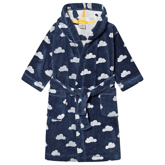 Frugi Toasty Towelling Robe Space Blue Cloud Space Blue Cloud