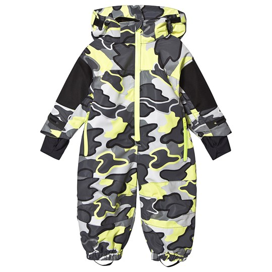 Stella McCartney Kids Landscape Print Ski Coverall Grey/Neon Yellow 1460