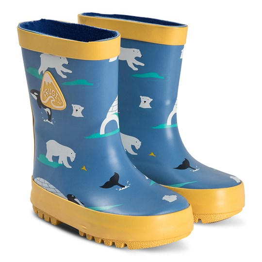Frugi Puddle Buster Wellies Polar Play Polar Play