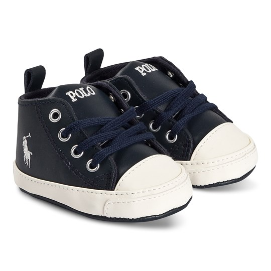 Ralph Lauren Hi Lace Crib Shoes Navy Laivastonsininen