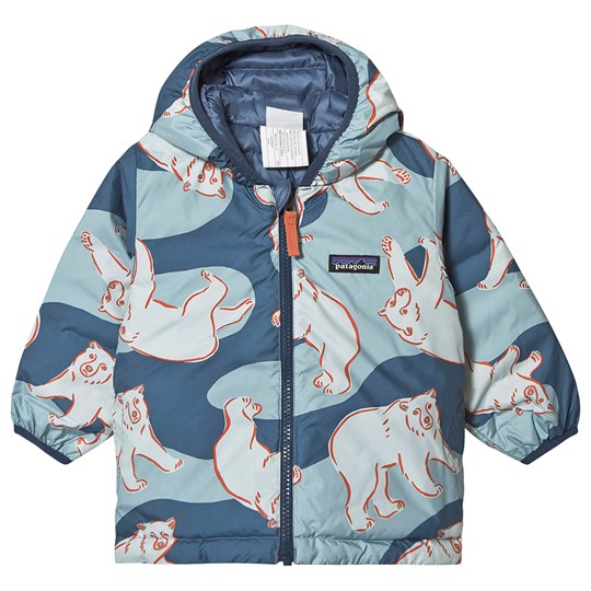 Patagonia Reversible Baby Jacket Wolly Blue and Polar Bears PBWB