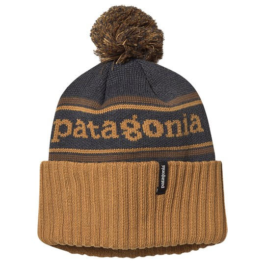Patagonia Powder Town Beanie Hammonds Gold and Owl Brown PSHO