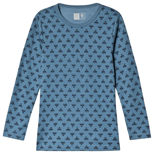 Hummel Logo Long Sleeve Tee Blue Heaven Blue Heaven
