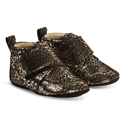 EnFant Velcro Sko Brown Glitter