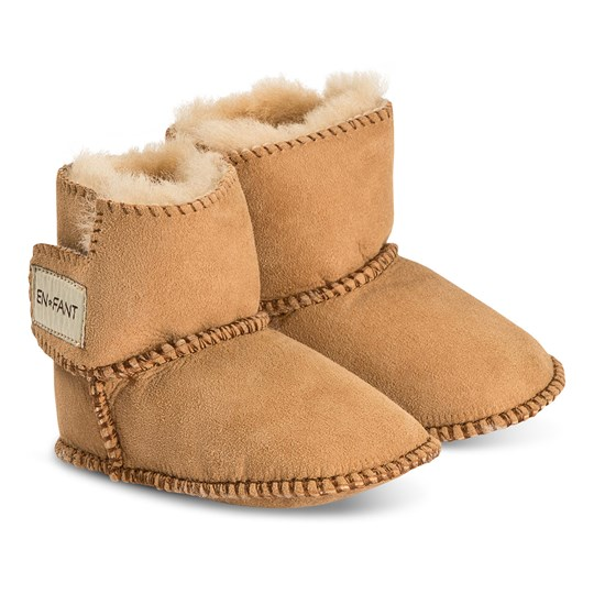 EnFant Sheepskin Booties Yellow Yellow