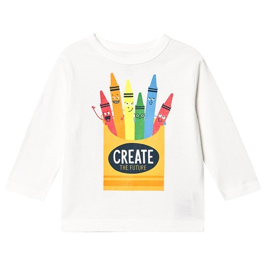 GAP Toddler Graphic Long Sleeve T-Shirt New Off White NEW OFF WHITE