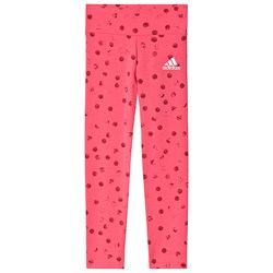 adidas Performance Polka Dots Logo Leggings Pink